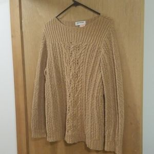 Jones New York Sport Tan Cotton Sweater